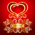 Illustration with heart Royalty Free Stock Photo