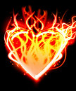 The illustration heart on fire Royalty Free Stock Photo