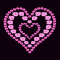 Illustration Heart Of Roses On...
