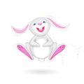 Hopping Bunny Royalty Free Stock Photo