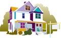 Illustration of house Royalty Free Stock Photo