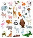 Illustration of a huge set with different animals Royalty Free Stock Photo