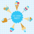Illustration of ice cream Royalty Free Stock Images