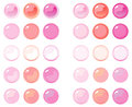 Illustration of icon bottons isolated on white set bottons pink labels multi colored glass balls Royalty Free Stock Photography