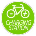 stock image of  Illustration e bike charging station