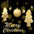 Illustration of icon  logo for Celebration Holiday New Year and Christmas. Royalty Free Stock Photo