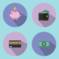 The illustration is an icon and a savings symbol, such as a drop of a piggy bank. Can be used for various media.