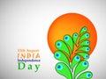 Illustration of India Independence Day Background