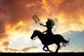 Indian hunter on horseback