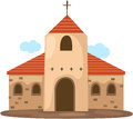 Illustration of isolated christian church on white Royalty Free Stock Photography