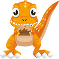 Illustration isolated dinosaur vector Royalty Free Stock Photography