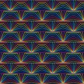 Ray connect open book symmerty rainbow seamless pattern Royalty Free Stock Photo
