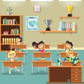 Illustration of a kids in classroom