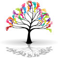 Illustration of kids tree as a symbol of ecology Royalty Free Stock Photos