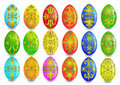 Illustration kit egg with gold(en) pattern Stock Images