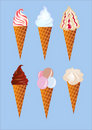Illustration kit icecream Royalty Free Stock Photography