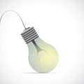 Illustration lamp bulb grey backdrop Stock Photo