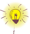 Illustration: lamp - have a new idea Stock Photo