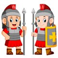 Legionary soldier of the Roman Empire Royalty Free Stock Photo