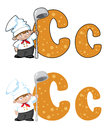 Illustration letter c cook Stock Photos