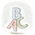 Illustration letters abc hand drawn sketch Royalty Free Stock Photos