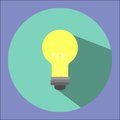 Illustration is a light bulb icon. Can be used in various publications.