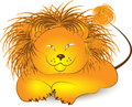 Illustration of lion cartoon on a white background Royalty Free Stock Images