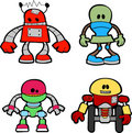 Illustration of little robots Royalty Free Stock Photos
