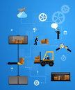 Illustration logistics safekeeping delivery shipping Royalty Free Stock Photo