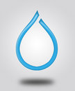 Illustration logo a drop of water and shadow Stock Photo