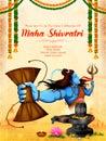 Lord Shiva, Indian God of Hindu for Maha Shivratri festival of India Royalty Free Stock Photo