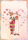 Illustration of lovers  Royalty Free Stock Images