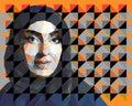Portrait of an Arab woman wearing hijab