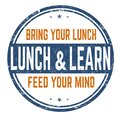 Illustration of a lunch and learn sign isolated on a white background Royalty Free Stock Photo