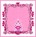 Illustration of magic fairy tale princess castle this is file eps format Stock Images