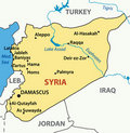 Illustration -  map of syria - vector Royalty Free Stock Image