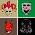 Illustration mask set