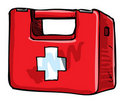 Illustration of medic kit. Royalty Free Stock Photography