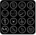 Illustration medical icons Stock Photography