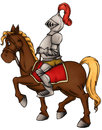 Illustration of a medieval knight and his horse Royalty Free Stock Photo