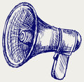 Illustration of megaphone Stock Image