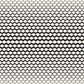 Illustration of mesh with gradually thickness. Halftone pattern.