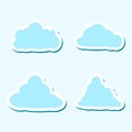 Illustration messages in the form of clouds, Icon set