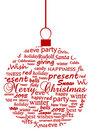 Illustration of a metaphoric Christmas ball Royalty Free Stock Photo