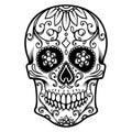 Ilustrácie z mexičan cukor lebka