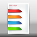 Illustration of modern design template with arrows vector Stock Photos