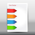 Illustration of modern design template with arrows vector Royalty Free Stock Images