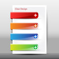 Illustration of modern design template with banner vector banners Stock Photo