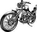 Illustration of the motorcycle i made a a vector work Stock Photo