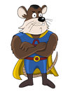 Illustration of mouse super hero isolated on a white background Stock Photo